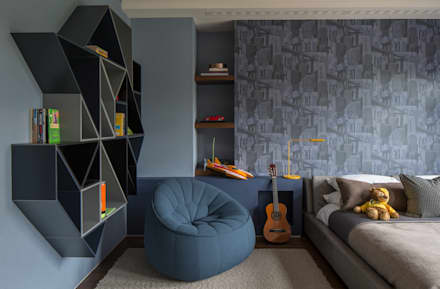 Broad Walk Children's Bedroom: modern Nursery/kid's room by Roselind Wilson Design