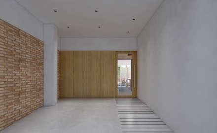 Casa CC: Garajes de estilo ecléctico de diecisietemastres · procesos de arquitectura, diseño e identidad