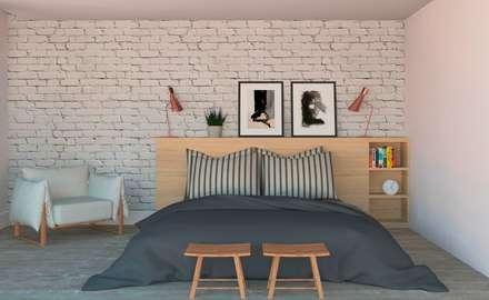 ห้องนอน by Patrícia Nobre Interiores