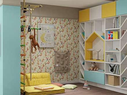3к.кв. в доме на Советской (115 кв.м): Детские комнаты в . Автор – ДизайнМастер