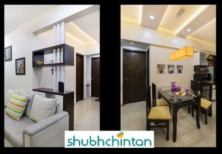 2bhk flat : modern Dining room by shubhchintan