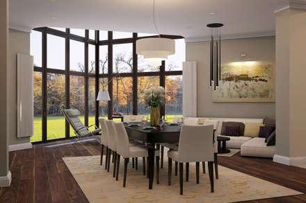 Краски осени: Столовые комнаты в . Автор – дизайн-студия ПРОСТРАНСТВО ДИЗАЙНА