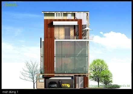 Thiết kế kiến trúc biệt thự:  Nhà by CÔNG TY TNHH KIẾN TRÚC T&D