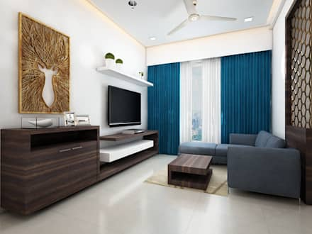 Living room tv unit minimalistic living room by the inside stories by minal