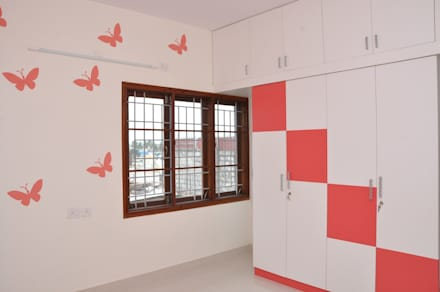 asian Bedroom by Scale Inch Pvt. Ltd.