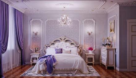 Идеи спален с шкафами 214