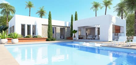 Villa Tara - New Build in Javea: mediterranean Houses by Blue Square Real Estate