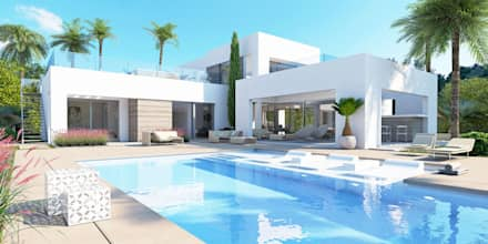 Villa Chloe - New Build Moraira: mediterranean Houses by Blue Square Real Estate