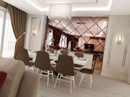VERO CONCEPT MİMARLIK – Villa Mira: modern tarz Yemek Odası