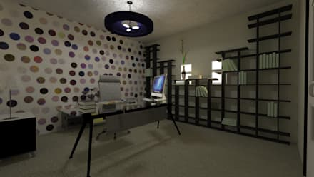 Vivienda Unifamiliar: Oficinas de estilo moderno por N.A. ARQUITECTURA