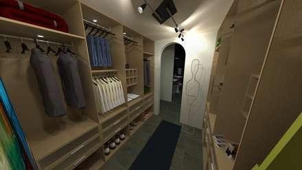 Vivienda Unifamiliar: Closets de estilo moderno por N.A. ARQUITECTURA