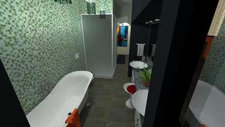 Vivienda Unifamiliar: Baños de estilo moderno por N.A. ARQUITECTURA