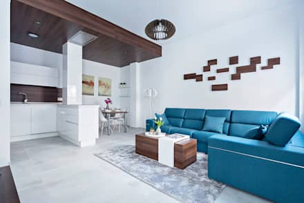 vivienda almeria salones de estilo minimalista de pl