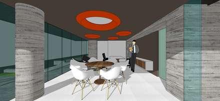 Oficina: Oficinas de estilo minimalista por MARATEA Estudio
