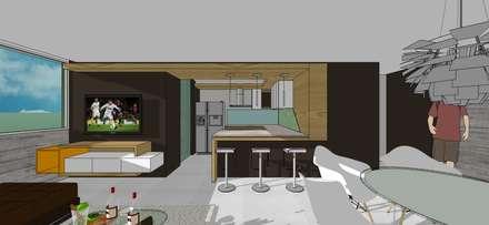 Apto. N°2. Cocina: Cocinas de estilo minimalista por MARATEA Estudio