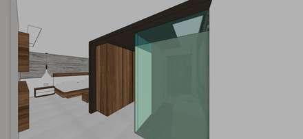 Apto. N°2. Vestier habitación principal: Closets de estilo minimalista por MARATEA Estudio