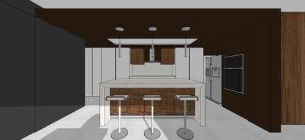 Apto. N°5. Cocina: Cocinas de estilo minimalista por MARATEA Estudio