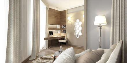 Апартаменты «НЬЮ-ЙОРКСКИЙ ШИК»: Спальни в . Автор – ART Studio Design & Construction