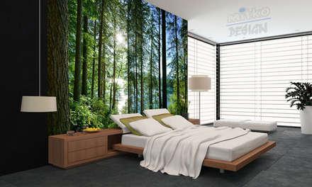 Bringen Sie ein Wald in Ihr Schlafzimmer...: moderne Schlafzimmer von Mitko Design