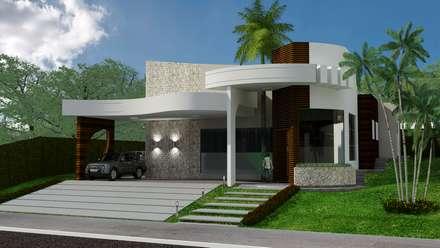 Projeto residencial em condomínio fechado: Casas modernas por Appoint Arquitetura e Engenharia