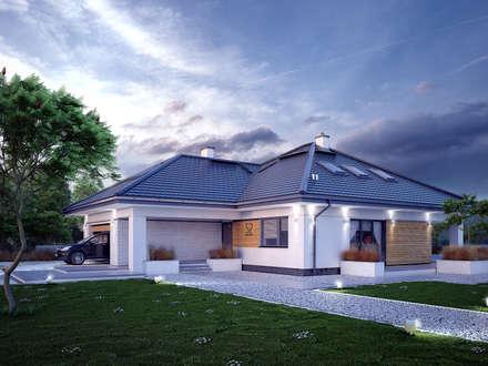Wizualizacja projektu domu Ariel 7: styl nowoczesne, w kategorii Domy zaprojektowany przez Biuro Projektów MTM Styl - domywstylu.pl