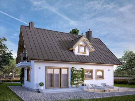 Wizualizacja projektu domu Bielik: styl klasyczne, w kategorii Domy zaprojektowany przez Biuro Projektów MTM Styl - domywstylu.pl