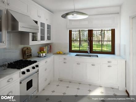 Wizualizacja wnętrza projektu domu Dudek 2: styl , w kategorii Kuchnia zaprojektowany przez BIURO PROJEKTOWE MTM STYL