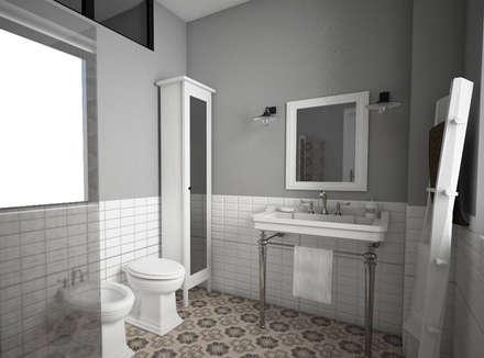 Progetto di ristrutturazione e interior design: Bagno in stile in stile Rustico di StudioExNovo