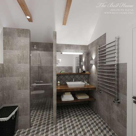 Дизайн интерьера коттеджа в пос.Нагорное: Ванные комнаты в . Автор – Best Home
