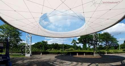 leichtbaukunst - Zufahrtsüberdachung für Lindner Congress Hotels mit einer ETFE-Linse:  Kongresscenter von leichtbaukunst