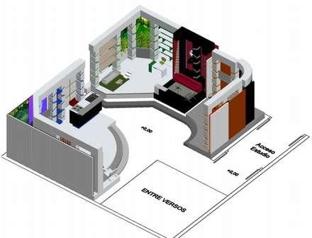 Estudio de grabación 270ª: Salas de entretenimiento de estilo moderno por ERGOARQUITECTURAS FL C.A.