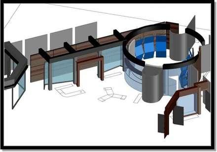 Pasillo de circulación y Hall de acceso: Pasillos y vestíbulos de estilo  por ERGOARQUITECTURAS FL C.A.