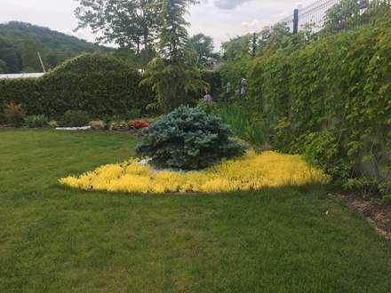konseptDE Peyzaj Fidancılık Tic. Ltd. Şti. – V.A KONUT PEYZAJ PROJESİ VE UYGULAMASI: modern tarz Bahçe
