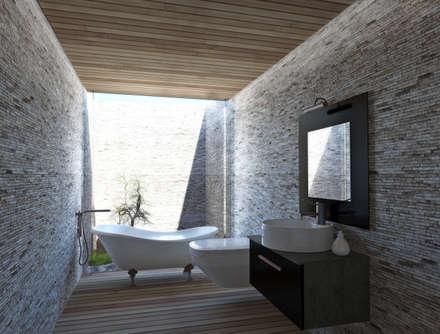: Baños de estilo moderno por NEF Arq.