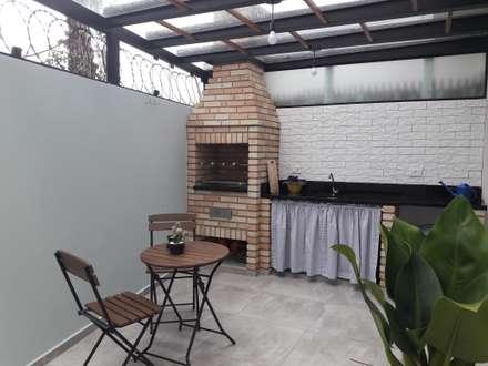 Churrasqueira + Lazer: Terraços  por Q2 Arquitetura