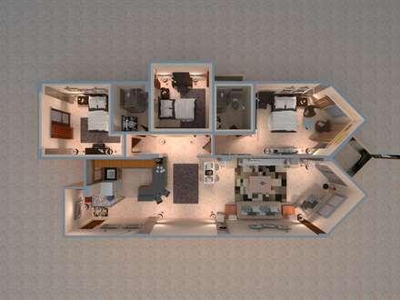شاليه بالسخنة:  غرفة المعيشة تنفيذ Taghred elmasry