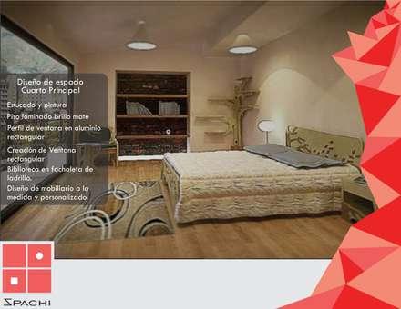 Diseño de Alcoba Principal : Habitaciones de estilo rústico por Spachi Arquitectura Comercial