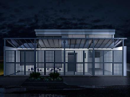 Fachadas: Edificios de oficinas de estilo  por ConstruKapital
