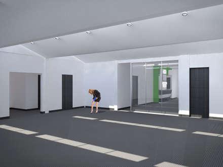 espacio para oficinas abiertas: Edificios de oficinas de estilo  por ConstruKapital
