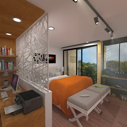 Habitacion: Casas de estilo moderno por ConstruKapital