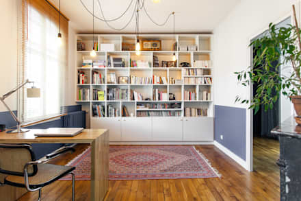 eclectic Study/office by MadaM Architecture