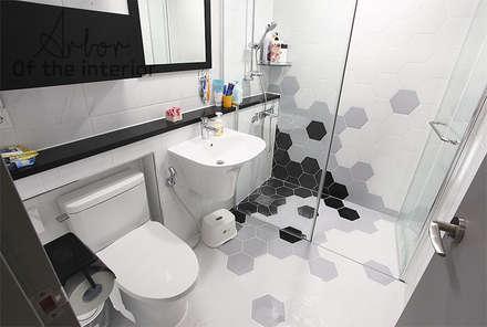 인천 송도 더샵그린스퀘어 38평형: 디자인 아버의  화장실