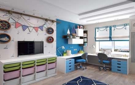 Детская комната в морском стиле: Детские комнаты в . Автор – Мастерская дизайна Онищенко Марии