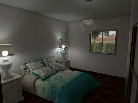 Dormitorio Principal: Dormitorios de estilo rural por Gastón Blanco Arquitecto