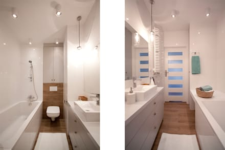 PROJEKT Z DETALAMI: styl , w kategorii Łazienka zaprojektowany przez IDAFO projektowanie wnętrz i wykończenie
