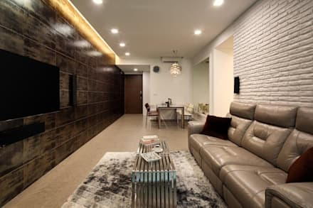 Minton Condo Interior Design Singapore: Modern Living Room By Posh Home Part 55