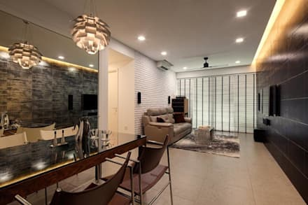Minton Condo Interior Design Singapore: modern Dining room by Posh Home