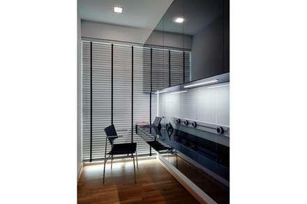 Minton Condo Interior Design Singapore: modern Study/office by Posh Home