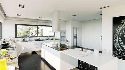 Moradia - Gerês , Portugal: Cozinhas modernas por MyWay design