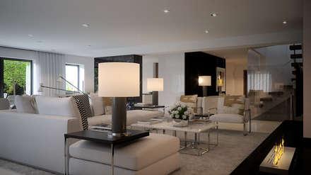 Moradia - Paris , França: Salas de estar modernas por MyWay design